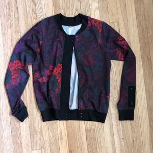 Fabletics floral bomber - size XS